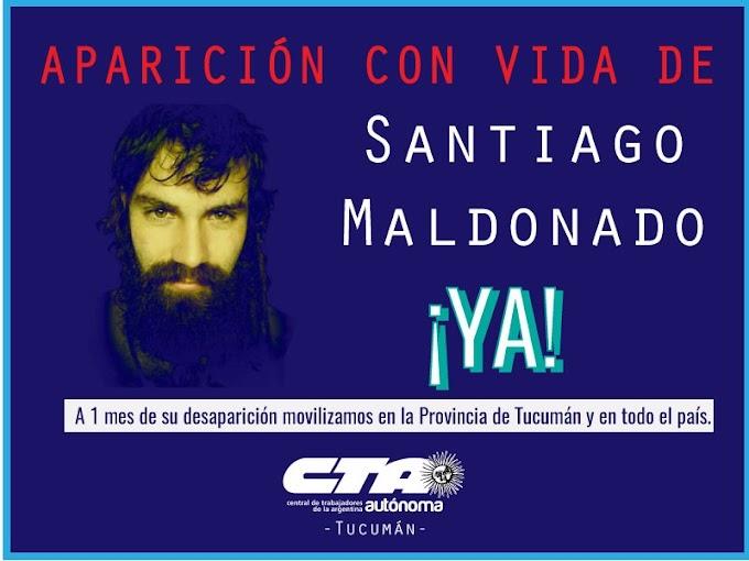 La CTA Autónoma volverá a exigir la aparición con vida de Santiago Maldonado