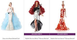 Coleção boneca de designer