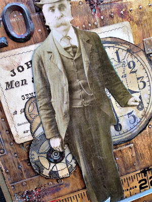 Sara Emily Barker http://sarascloset1.blogspot.com/ No Good Reason tutorial #tim holtz #sizzix3Dtexturefade #foundry #lumber 5