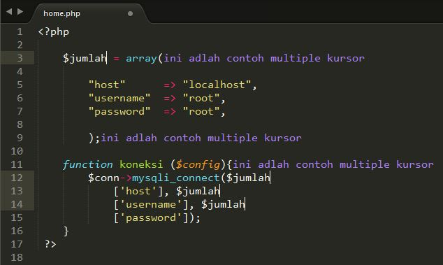 Tutorial Sublime Text 3 – #4 Editing (Bagian 1) 4