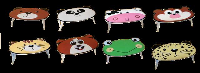 kumpulan meja anak lucu unik karakter kartun