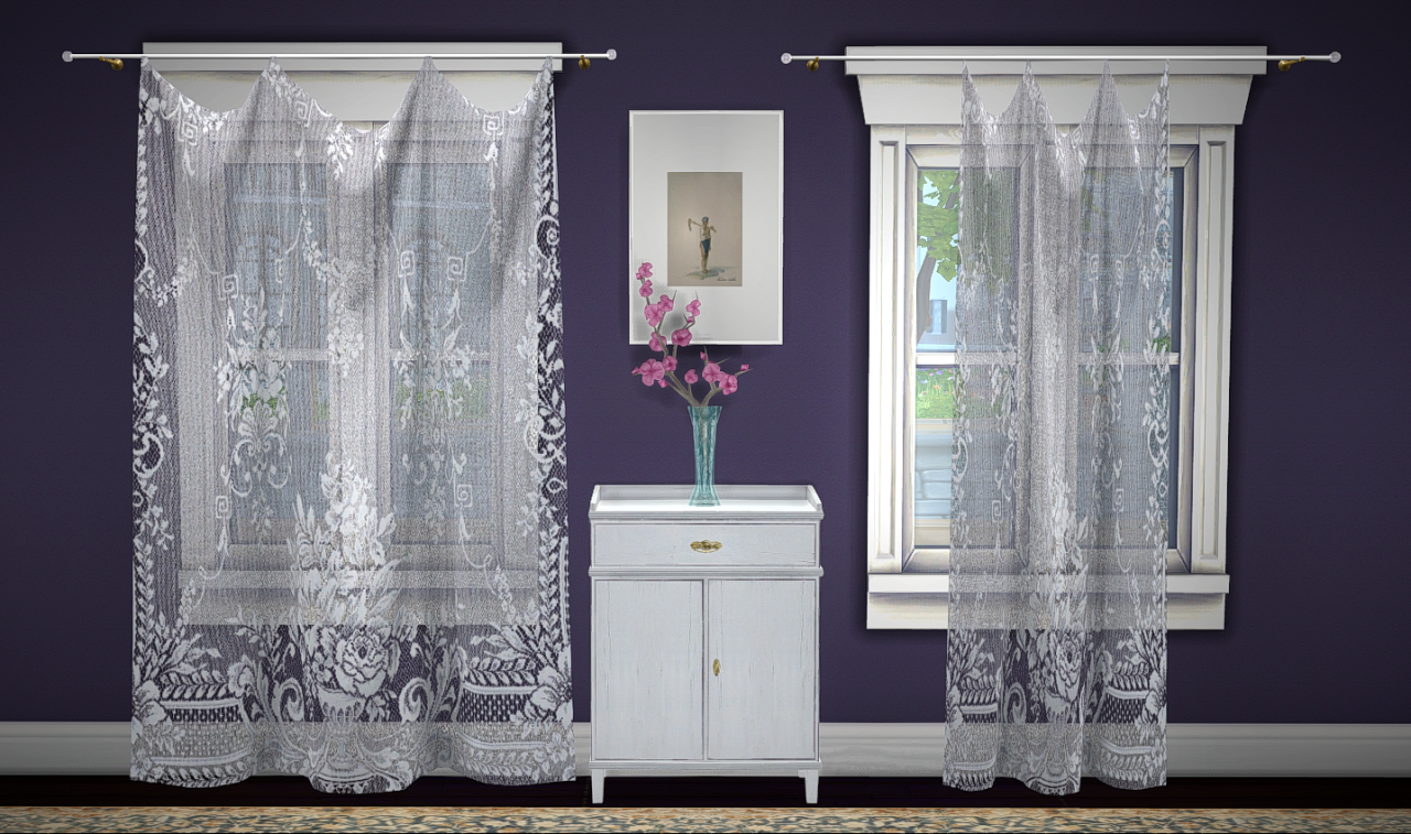 Build A Curtain Lace Sheer By Greengirl100