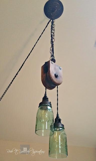 DIY Pulley Light Fixture | Redo It Yourself Inspirations ...