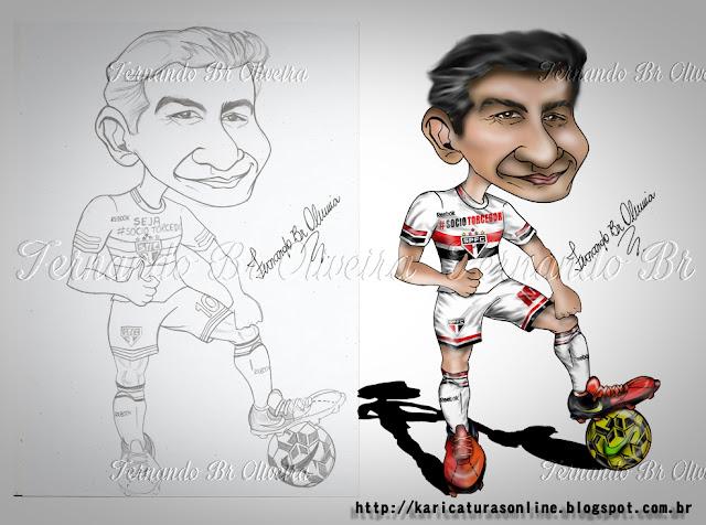 Esboço e Caricatura Paulo Henrique Ganso 2015 São Paulo