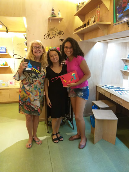 Eu, Luciana e a blogueira Denise
