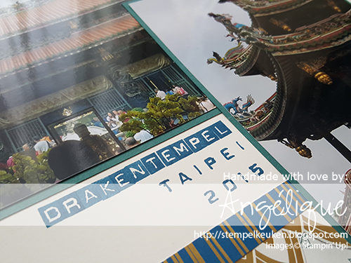 de Stempelkeuken Jouw Stampin' Up! demo. Eastern Palace Suite http://stempelkeuken.blogspot.com/2017/05/ch-bloghop-stempel-en-scrap.html #stampinup #easternpalace #easternpalacesuite #tranquiltide #dapperdenim #gold #goud #taipei #taiwan #stamping #stempelen #creative #creatief #layout #scrapbooking #scrap #embossing