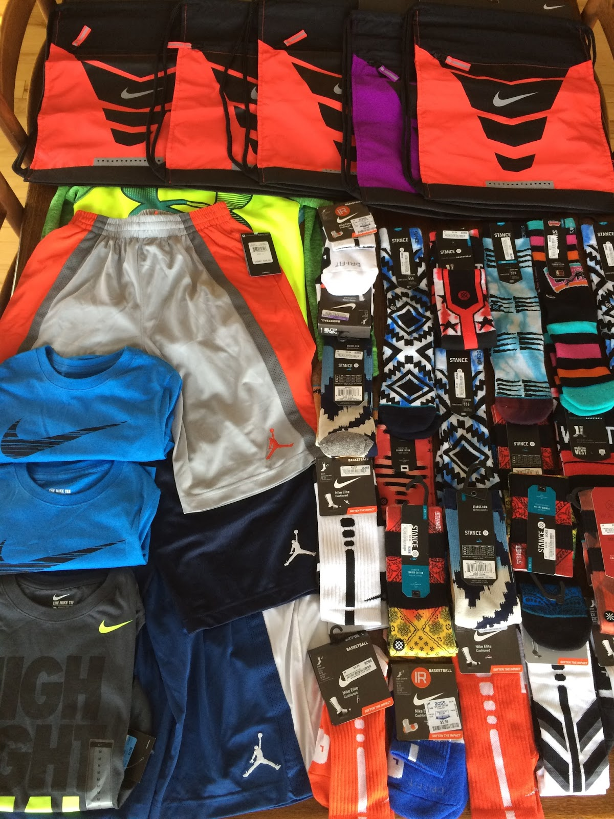on sale 413df d9fc2 Here are some of our prizes this year! Stance and Elite socks, Hoodies, Jordan  shorts, Elite bags, etc. etc.