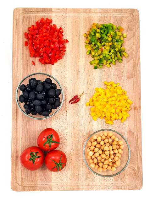 Hladna kvinojina solata zelenjava