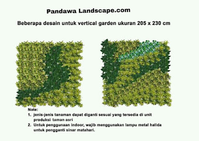 Desain vertical garden
