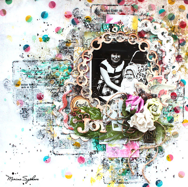 marinasyskova #scrap #scrapbooking #mixedmedia #lo #layout