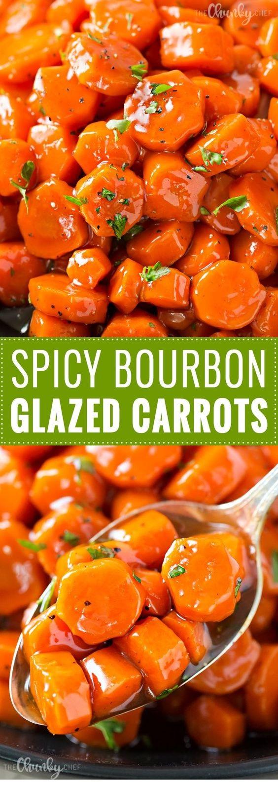 Spicy Bourbon Glazed Carrots