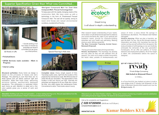 KUL Ecoloch – Ideally Located to Meet the Needs of Puneites ~ KUL Ecoloch