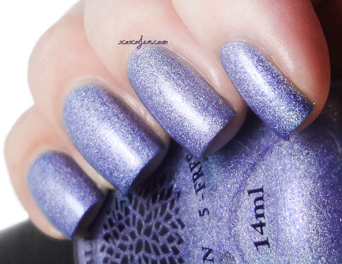 xoxoJen's swatch of Black Dahlia Lilacs in Lava