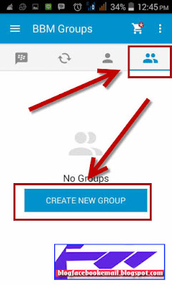 cara membuat grup BBM