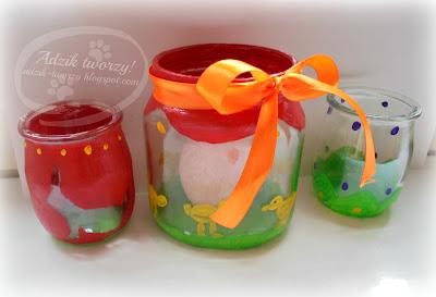Wielkanocne pisanki ze słoików z recyklingu