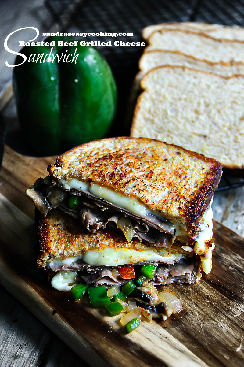 Roasted Beef Grilled Cheese Sandwich with a quick video tutorial