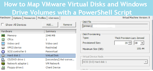 How to Map VMware Virtual Disks and Windows Drive Volumes