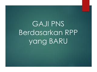 Gaji PNS Pusat dan Daerah Berdasarkan RPP Penggajian Baru
