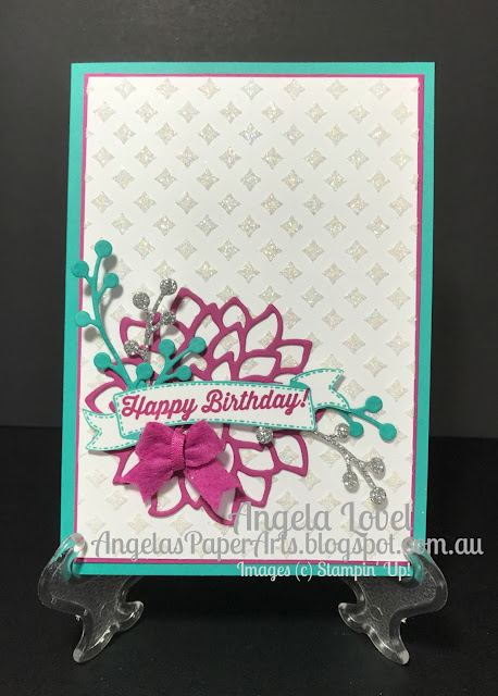 Stampin' Up! Dazzling Embossing Paste card by Angela Lovel, Angela's PaperArts