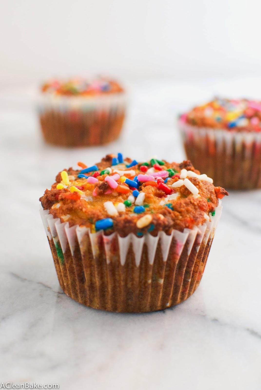 Grain Free Birthday Cake Muffins
