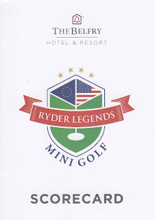 Ryder Legends Mini Golf course scorecard