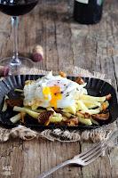 Huevos trufados con patatas y setas mi gran diversion