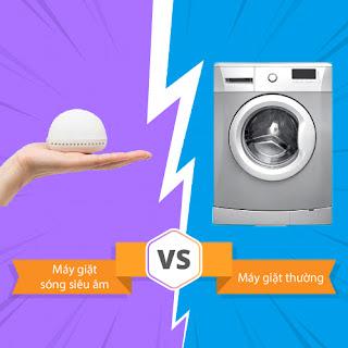 Máy giặt sóng siêu âm vs. máy giặt thường