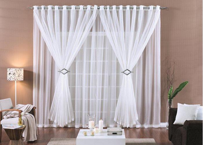 Decora o de ambientes modelos de cortinas modernas for Cortinas de sala modernas 2016
