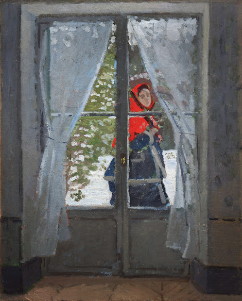 Claude Monet Painting the Red Cape