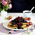 Zitronen-Ricotta Pancakes mit Thymian und Blaubeersauce - Mein Frühstücksglück
