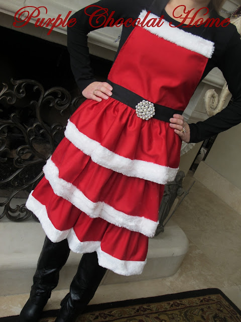 cooking up an apron for mrs claus purple chocolat home