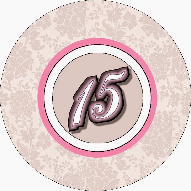 Toppers or Free Printable Candy Bar Labels for a Blondie Quinceanera.