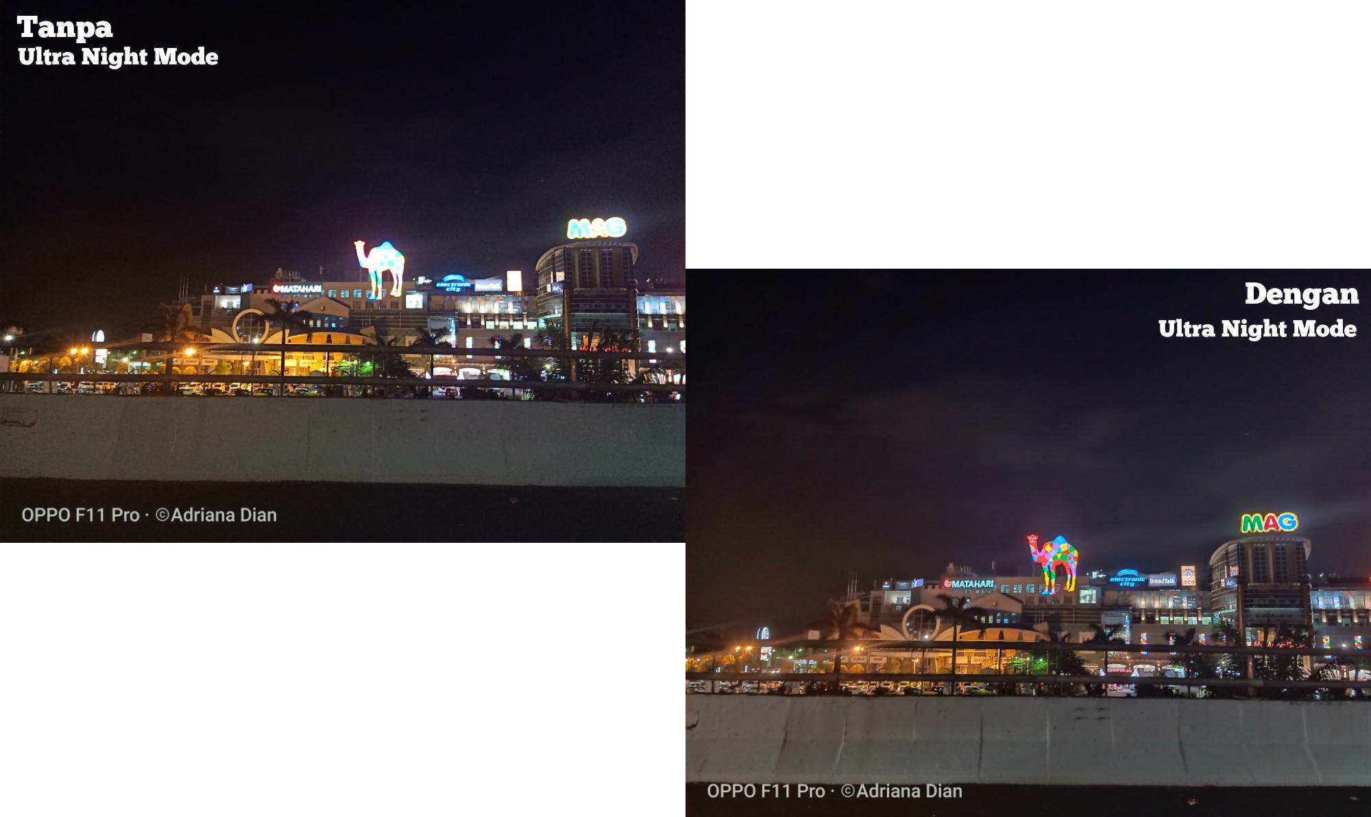 Night mode kamera Oppo