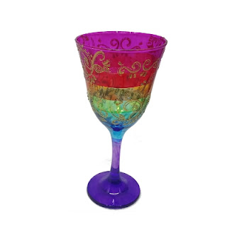 Taça Cigana 7 Saias Colorida - Taça Umbanda Sete Saias