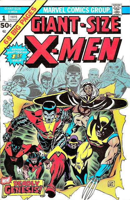 Giant-size X-men #1, 1975 marvel bronze age comic book cover - 1st New X-men