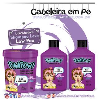 Condicionador, Defrisante e Máscara Liso Responsa - PinaPow (Low Poo)
