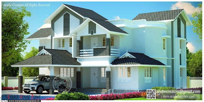 Wonderful Sloped Villa Design 2789 sqft.