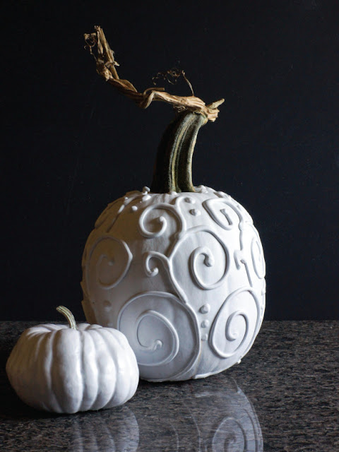 modern painted pumpkins