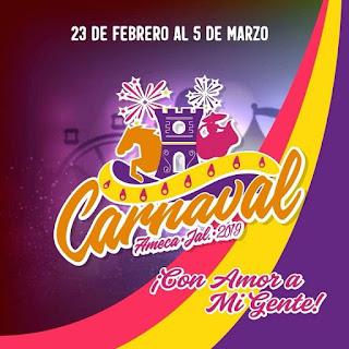 programa carnaval ameca 2019