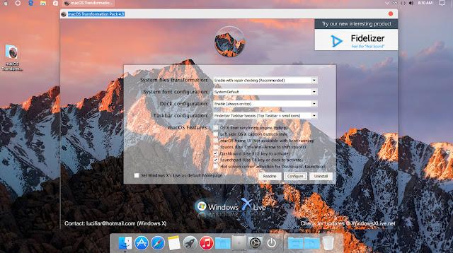 Mac OS Transformation Pack 4.0 đã tương thích với Windows 10 version 1607