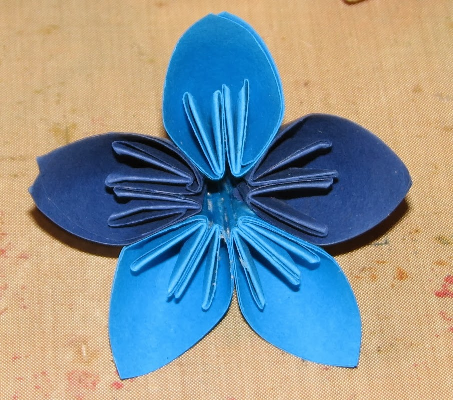 Ink Stains: Origami Kusudama Flower Step by Step Photo ... - photo#28