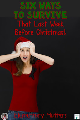Six Ways to Survive The Last Week Before Christmas: This blog post has several ideas for keeping the children engaged in learning during those VERY busy weeks before Christmas, including freebies for active learners!