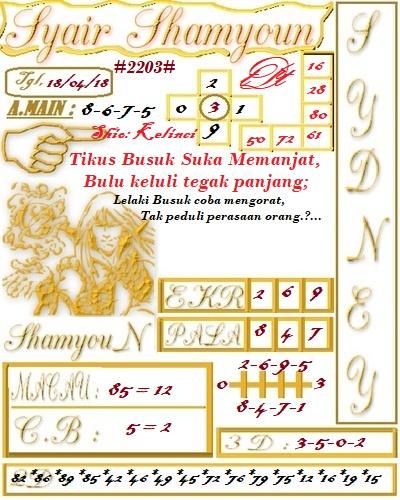 Code Syair Shamyoun Prediksi Angka Jitu Rabu