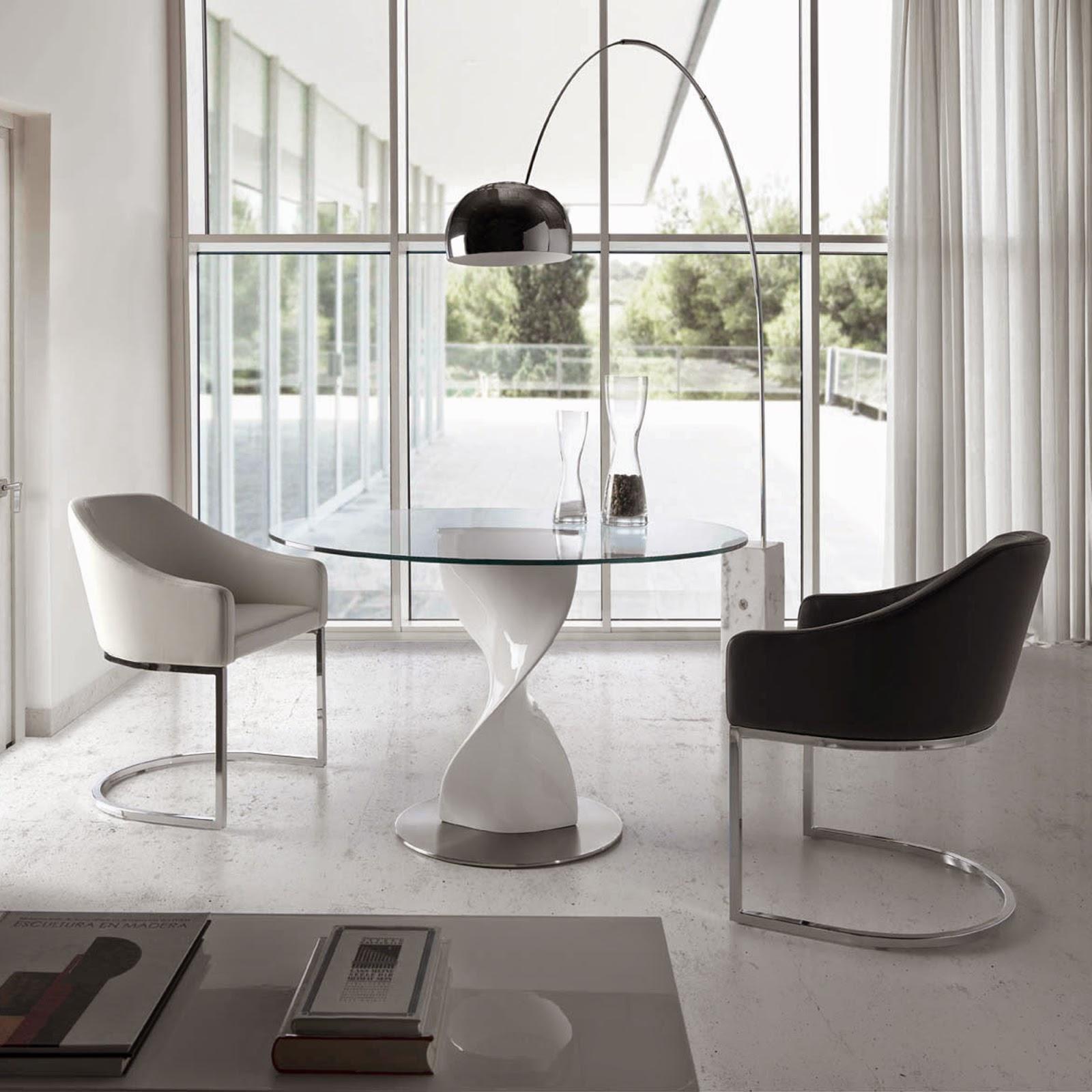 Mesas de comedor 10 mesas de comedor redondas maravillosas - Mesas redondas cristal comedor ...
