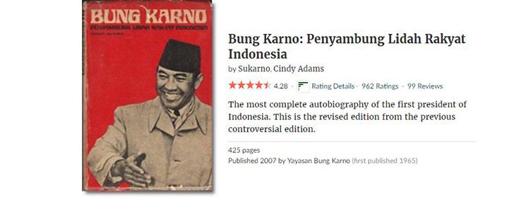 Buku Terbaik tentang Soekarno, dari Soekarno Sendiri...