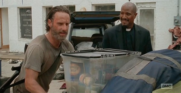Rick y Gabriel Stokes en The Walking Dead 5x03