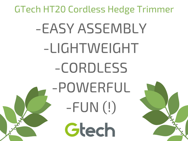Mr Bishop reviews the GTech HT20 Cordless Hedge Trimmer