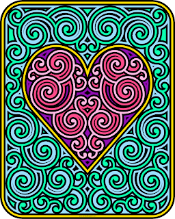 Swirly Heart coloring page