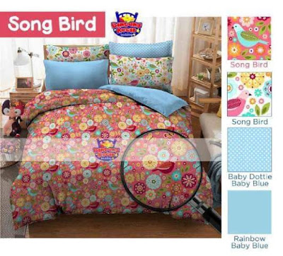 sprei motif Song Bird star