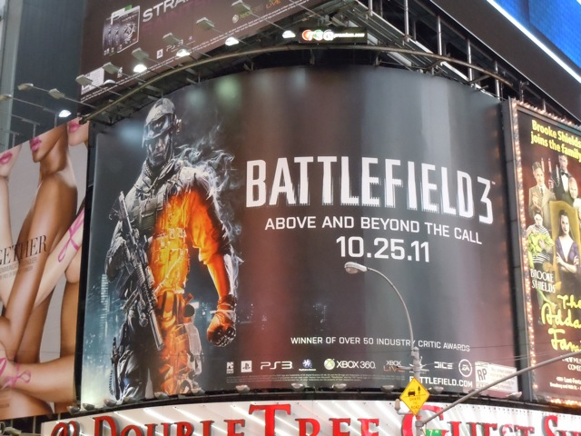Battlefield 3 game billboard NYC